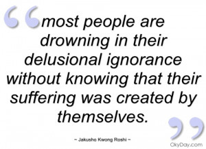 most people are drowning in their