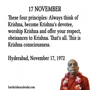 Prabhupada Quotes For The Month of November 17