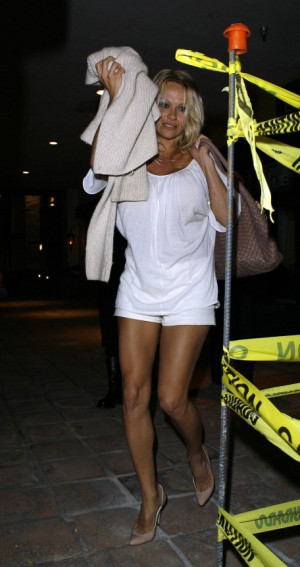 Pamela Anderson White Shorts