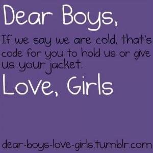 Dear Boys Quotes Dear boys