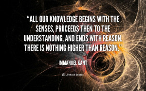 Quote Immanuel Kant All Our