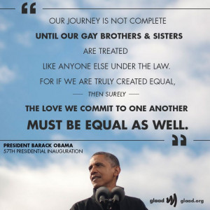 We love this quote from President Barack Obama's Inauguration speech ...