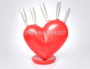 Broken Hearts With Knife Broken heart knife block sends