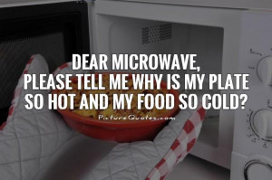... tell me why is my plate so hot and my food so cold? Picture Quote #1