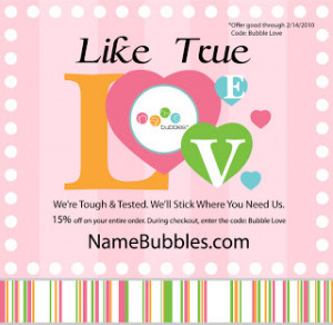 Our Valentine's Day Promotion - Bubble Love