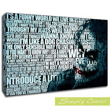 10032-THE JOKER FUNNY WORLD-Quotes Canvas Art Wall Print (A2 Size)