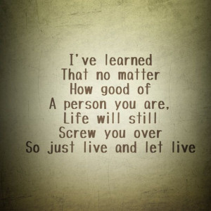 Live And Let Quotes #3