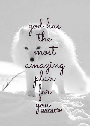 God hascthe most amazing plan for u
