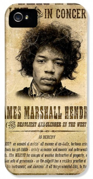 Mugshot iPhone 5 Cases - Hendrix Wanted Poster iPhone 5 Case by Gary ...