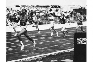 Wilma Rudolph (far left) triumphs at the semi-final heat in the women ...