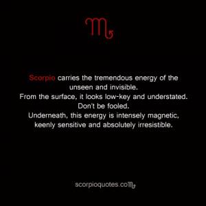 Quotes about Scorpio: