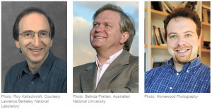 Saul Perlmutter Brian Schmidt and Adam Riess will share the 2011