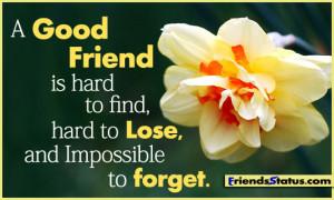 good friend is hard to find fb status