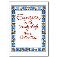 ... anniversary of your ordination general ordination anniversary card $ 1