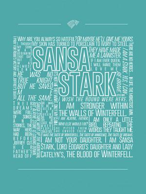 ofhouseadama › Portfolio › Sansa Stark Quote Poster