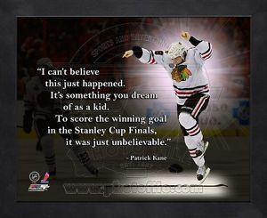... -Kane-Chicago-Blackhawks-8x10-Black-Wood-Framed-Pro-Quotes-Photo