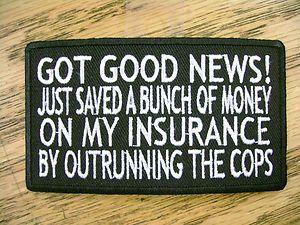 biker quotes | Got Good News Funny Sayings Vest Patch Motorcycle Biker ...