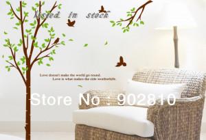 ... 63x59in-Spring-Huge-Big-Tree-Leave-Flying-Bird-Love-Letter-Saying.jpg