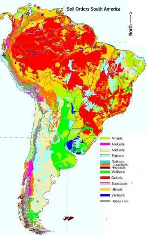 North and South America Climate Map