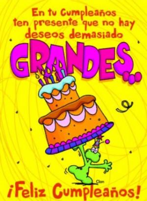Happy birthday in Spanish