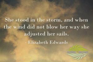 Elizabeth Edwards' quote.