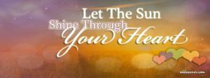 Let The Sun Shine Facebook Cover