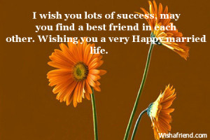 Best Wishes Quotes For Happy Married Life ~ Wedding Congratulations