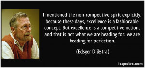 Quotes On Perfection and Excellence