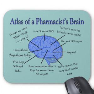 Atlas de un farmacéutico Cerebro-Hilarante Alfombrillas De Ratones