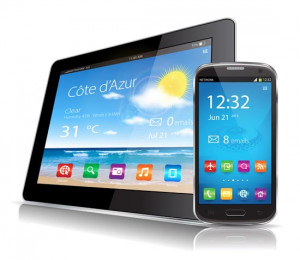 Smartphone Tablet and Laptop