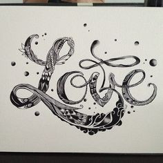 Love #quotes #ink #calligraphy #lettering #clothing #typography # ...