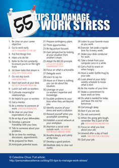 55 Tips To Manage Work Stress Me Times Two is a 24 Hour Lifestyle ...