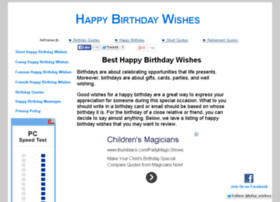 www.besthappybirthdaywishes.com Visit site