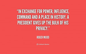 In exchange for power, influence, command and a place in history, a ...