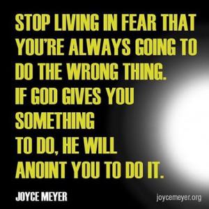Stop Living in Fear!