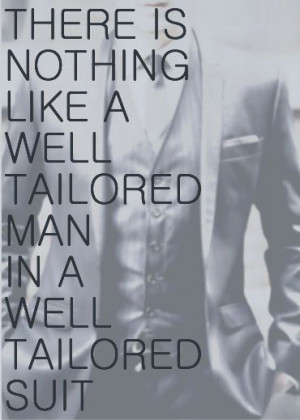 There is nothing like a well tailored man in a well tailored suit.