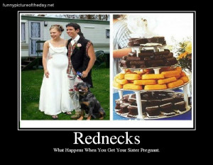 Rednecks Funny Sister Pregnant Wedding Cake