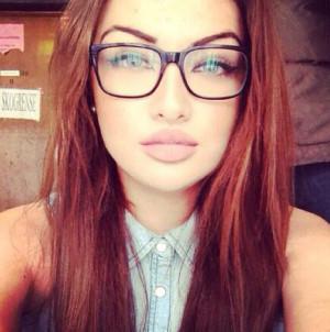 ... , eye, fashion, glasses, hair, hot girl, lips, red hair, leonita