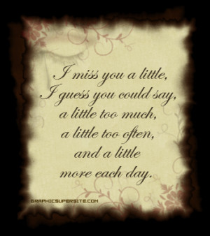 ... seems all consuming. Missing my husband today and honestly everyday