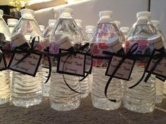Bachelorette party favors- bottle of water, decorative duct tape to ...