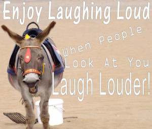 Inspirational Quotes – Laugh Loud – Happy Donkey