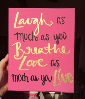 Sorority Canvas Gold Laugh and Love Quote Gift by PanhellenicPride, $ ...
