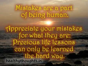 Mistakes Are Part of a Human Being Quote