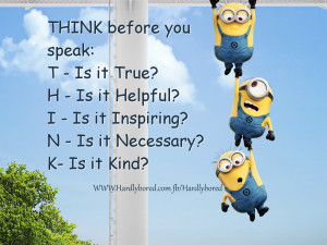 Thinking with Minions from HardlyBored.com