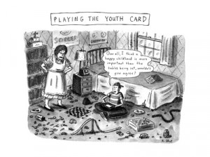Playing The Youth Card - New Yorker Cartoon