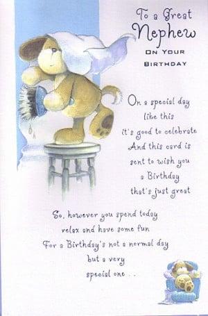 ... Relation Birthday Cards, Nephew, To A Great Nephew On Your Birthday