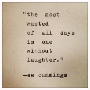 cummings quote typed on typewriter
