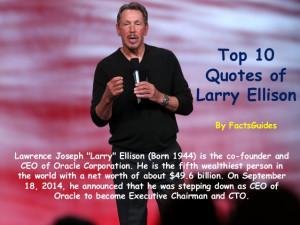 Top 10 Quotes Of Larry Ellison