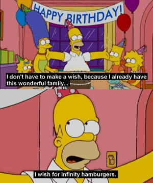 birthday, cartoon, family, homer, homer simpson, lol, party, quote ...