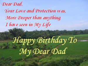 Happy Birthday Dad Poems Happy birthday.